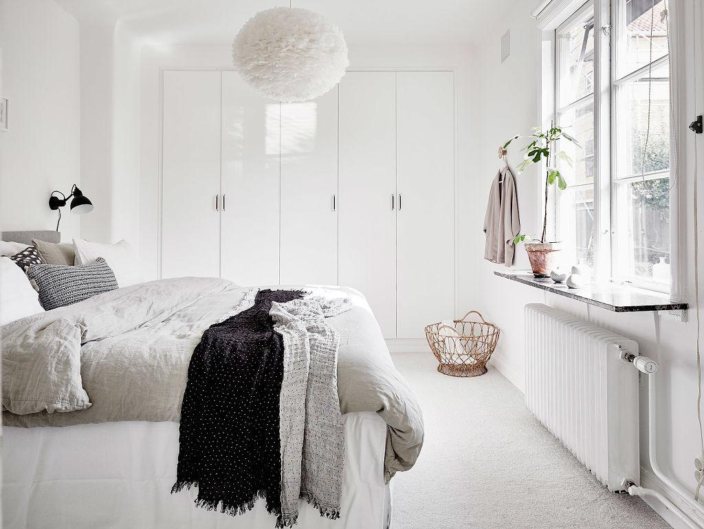 Slaapkamer Ideeen Scandinavisch : Scandinavische slaapkamer met inbouwkast uit göteborg interieur