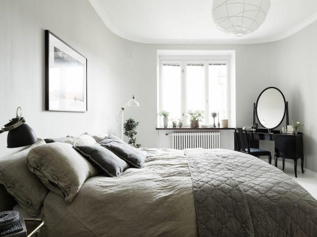 Scandinavische slaapkamer met een retro tintje interieur inrichting - Scandinavische kleur ...