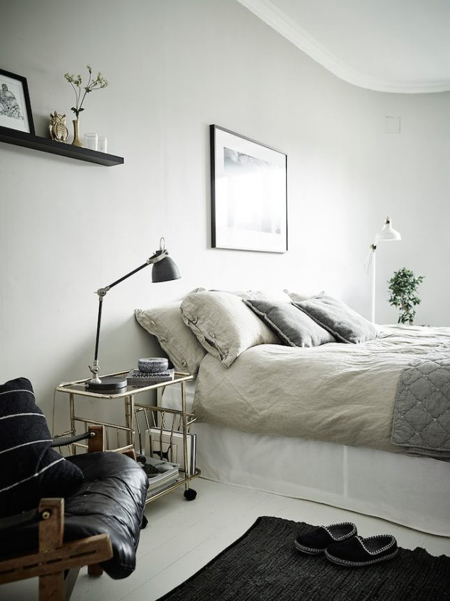 Scandinavische slaapkamer met een retro tintje  Interieur inrichting