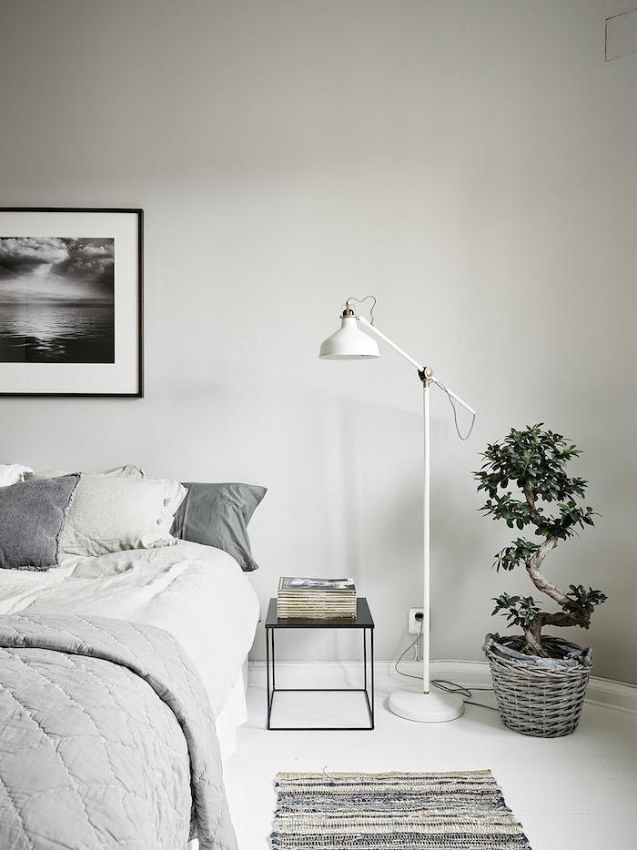 Scandinavische Slaapkamer Met Een Retro Tintje Interieur