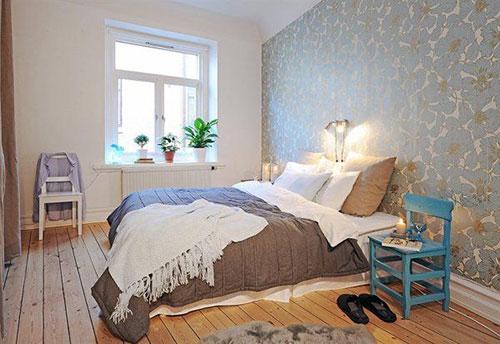 Scandinavische slaapkamersinterieur inrichting interieur inrichting - Interieur slaapkamer ...