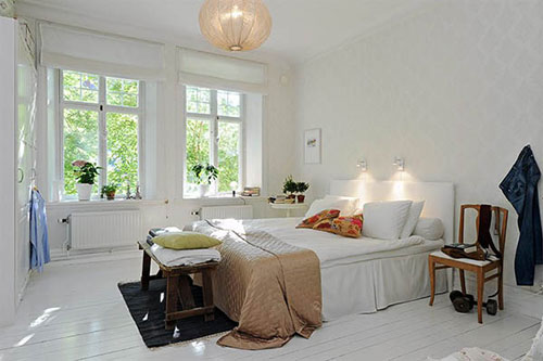 scandinavische slaapkamersinterieur inrichting | interieur inrichting, Deco ideeën
