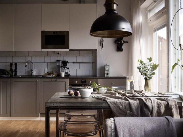 scandinavische taupe keuken