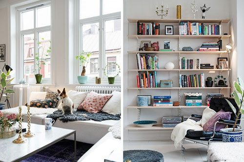 scandinavische woonkamer met arabisch tintje interieur inrichting