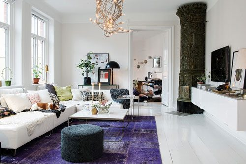 Scandinavische woonkamer met arabisch tintje interieur for Z vormige woonkamer inrichten