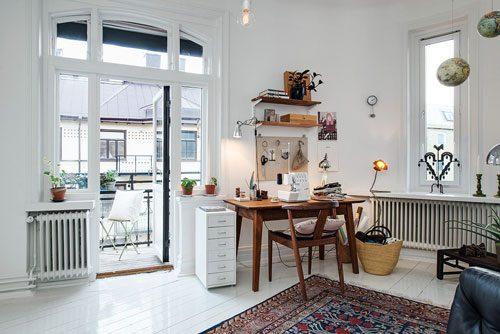 Scandinavische woonkamer met arabisch tintje interieur inrichting - Muur deco volwassen kamer ...