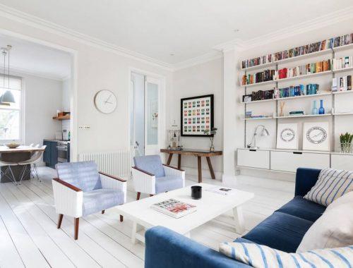 Scandinavische woonkamer uit Londen