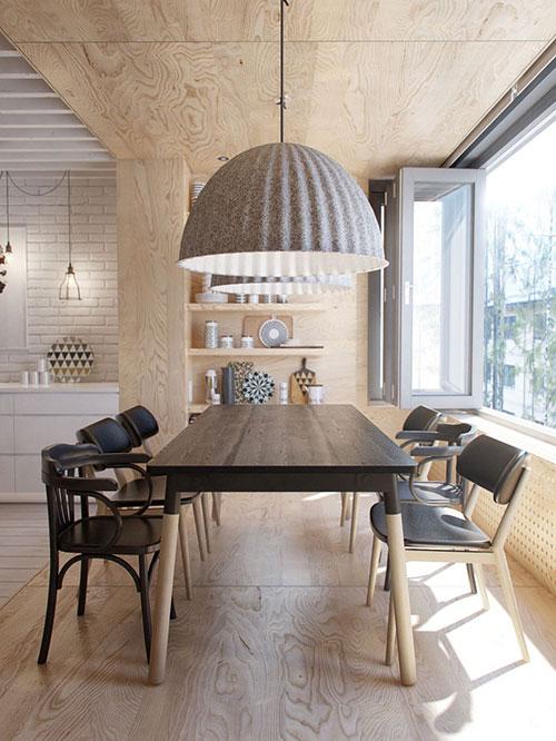 Scandinavische woonkamer met mooie meubels interieur inrichting - Deco design eetkamer ...