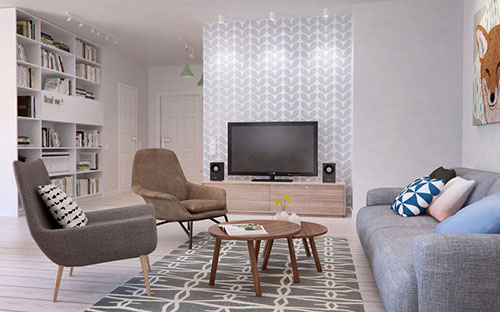 Scandinavische Vintage Woonkamer : Vintage woonkamer meubels maison design naxza