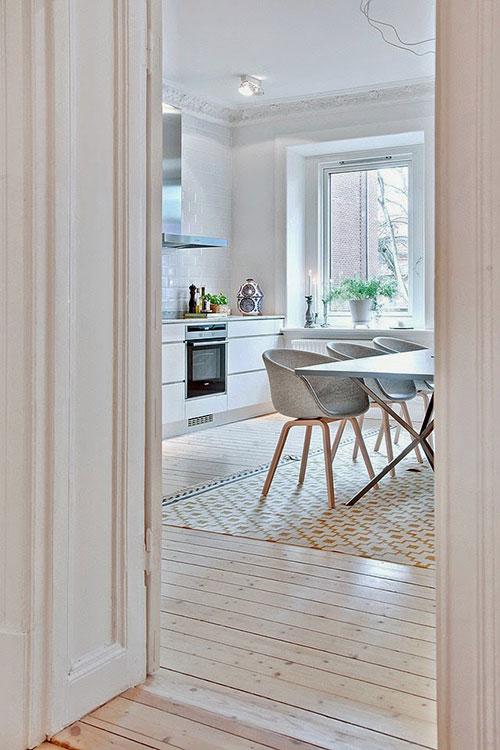 Scandinavische woonkeuken interieur inrichting for Eetkamerstoelen scandinavisch