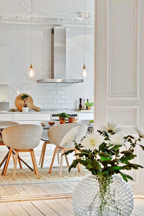Scandinavische woonkeuken interieur inrichting - Scandinavische keuken ...