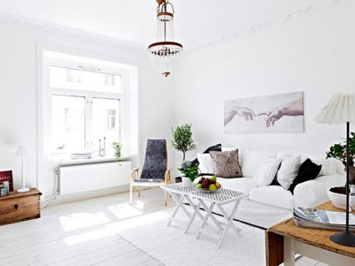 Scandinavische woonkamer
