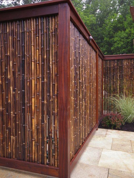 schutting ideeën bamboe