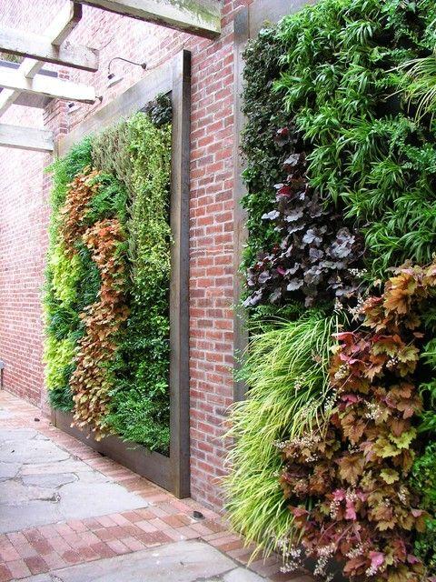 schutting ideeën verticale plantenwand