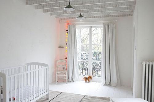 Serene babykamer interieur inrichting