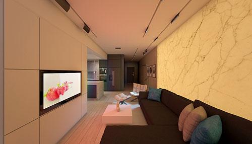 Sfeerverlichting in woonkamer