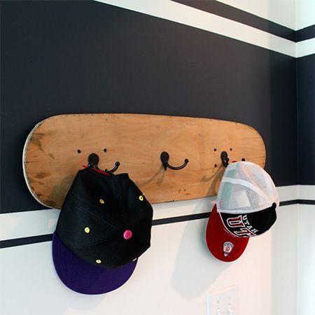 Skatebord deck in huis!