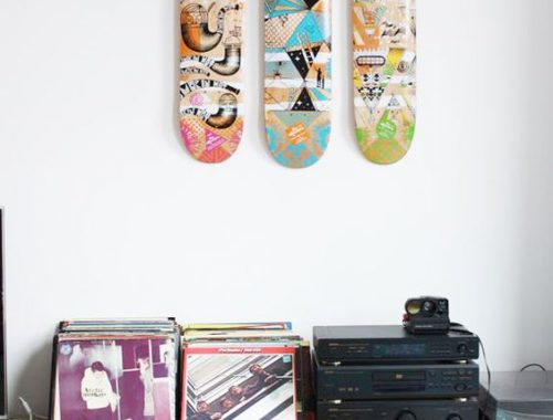 Skatebord deck in huis!
