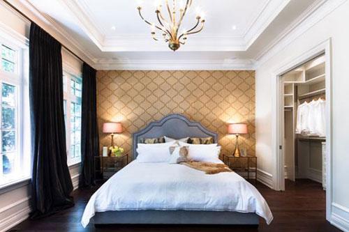 slaapkamer behang ideeà n interieur inrichting