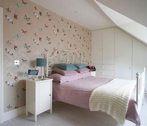 Slaapkamer behang ideeën  Interieur inrichting