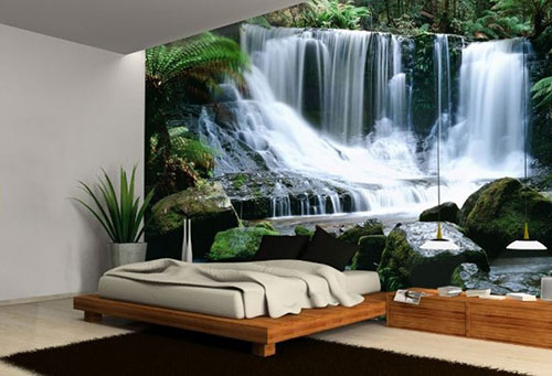 Kamer Pimpen Ideeen : Waterfall Themed Bedroom