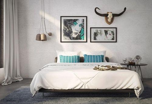Slaapkamer decoratie hertengewei