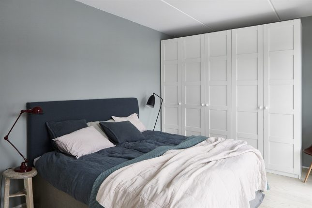 Slaapkamer met grijsblauwe tinten