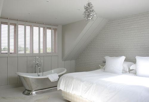 Slaapkamer idee n met bad interieur inrichting for Slaapkamer landelijk modern