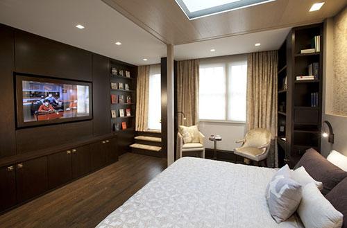Luxe slaapkamer van 1 kamer appartement New York   Interieur inrichting