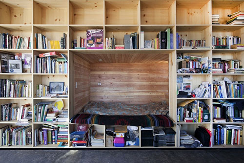 Slaapkamer in kast