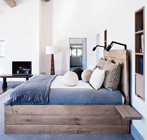 slaapkamer inrichten met steigerhouten bedden | interieur inrichting, Deco ideeën