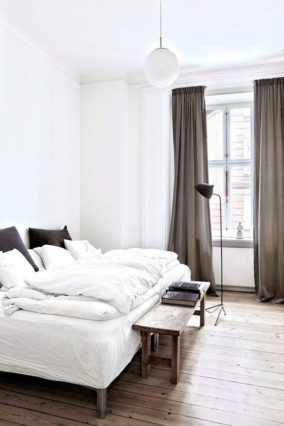 Slaapkamer inspiratie bankje aan uiteinde van het bed