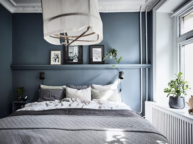 slaapkamer inspiratie blauwe muren