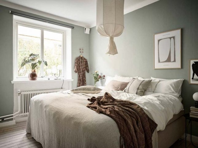 slaapkamer inspiratie groene muren