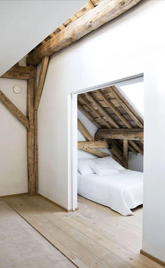Slaapkamer inspiratie houten vloer