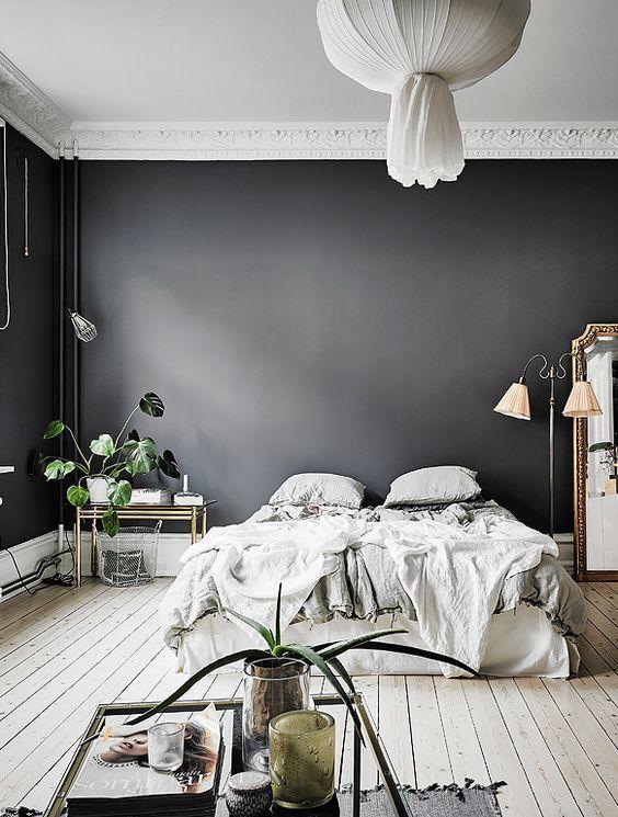 excellent slaapkamer inspiratie muurkleuren with slaapkamer zwart wit hout