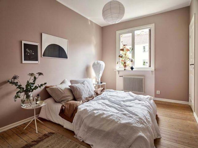 slaapkamer inspiratie roze muren