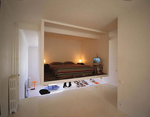 Slaapkamer in kubus