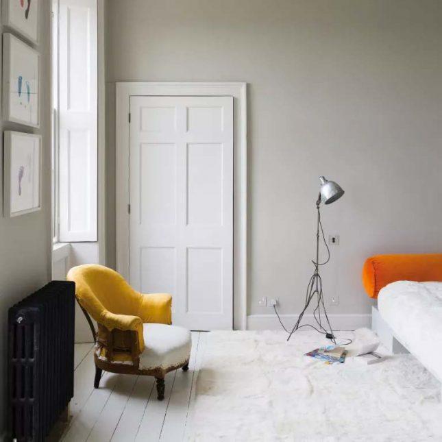 slaapkamer muurkleur inspiratie lichtgrijs