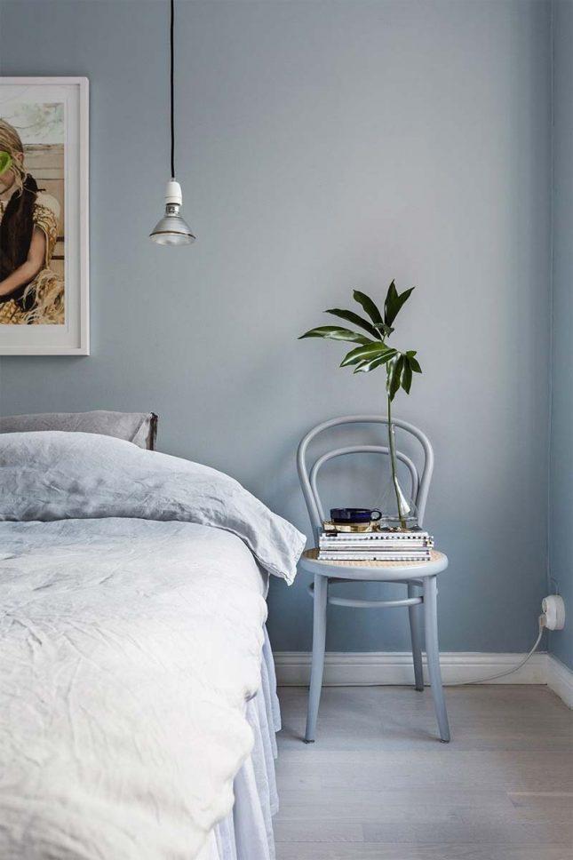 slaapkamer muurkleur inspiratie zachtblauw