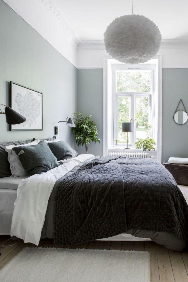 slaapkamer muurkleur inspiratie zachtgroen