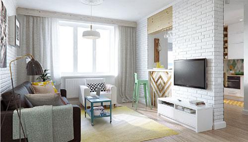 slaapkamer ontwerpen in kleine woonkamer | interieur inrichting, Deco ideeën