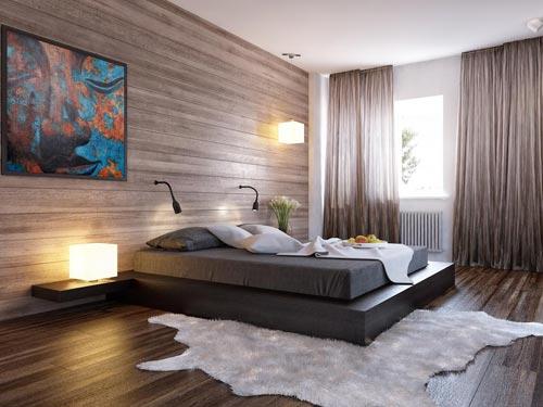 slaapkamer ontwerpen met hout  interieur inrichting, Meubels Ideeën