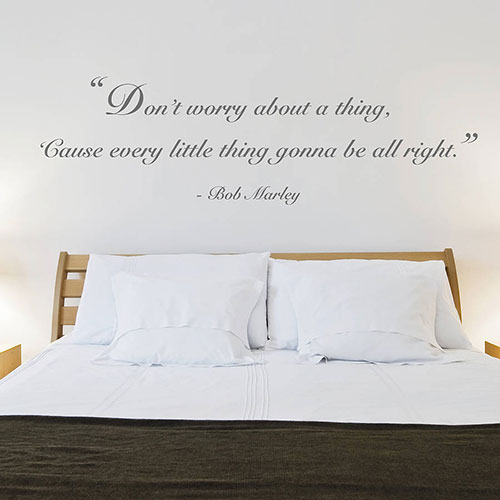 Kamer Pimpen Ideeen : Bedroom Wall Quote