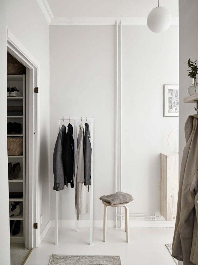 slaapkamer styling mooie kledingrek