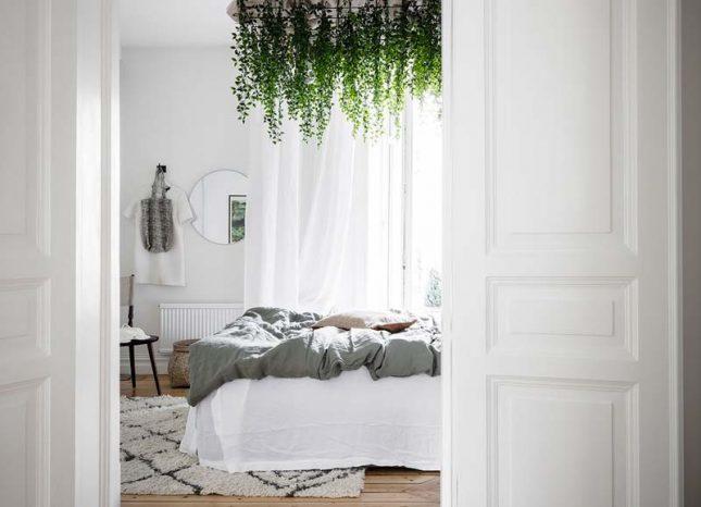 slaapkamer styling planten