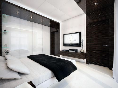 Ikea Slaapkamer Tv Meubel : Black and White Bedroom Design