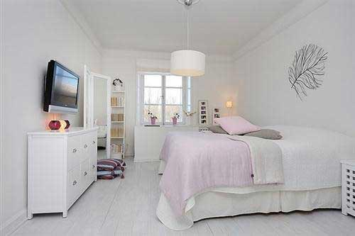 Slaapkamer tv idee n interieur inrichting for Deco chambre simple
