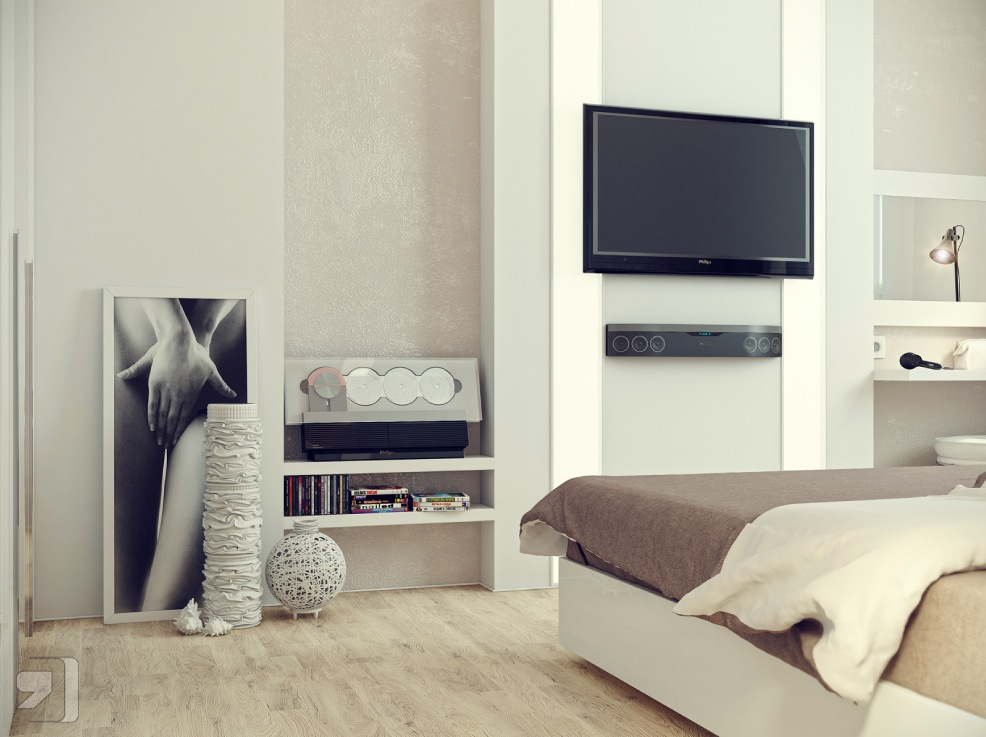 Slaapkamer Ideeen Afbeeldingen : Bedroom Design Ideas with TV