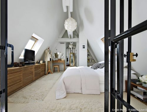 Slaapkamer vide loft Parijs